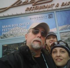 Rick, Katie, and Shanti at the 2008 Sundance Film Festival Box Office